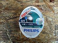 Лампа автомобильная Н1 12V 55W PHILIPS X-treme Vision+130% комплект 2шт