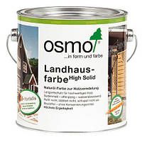 Непрозрачная краска для деревянных фасадов Osmo Landhausfarbe 2735 дымчато-серая 0,75 л