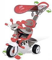 Металлический велосипед Smoby Вояж с козырьком, багажником и сумкой (434208)