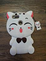 Объемный 3d чехол для Xiaomi Mi A1 / Mi 5x Кошечка белая