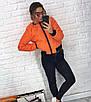 Женская демисезонная стеганная куртка на молнии 3ki184, фото 5