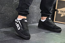 Мужские кеды Vans Old Skool замшевые,черные , фото 2