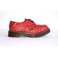 Женские ботинки красные Steel limited-edition 3 дырки 101/AL/D-99, фото 1