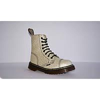 Зимние женские ботинки Steel с шерстью Limited Edition бежевые 8 дырок 113/AL/D-105, фото 1