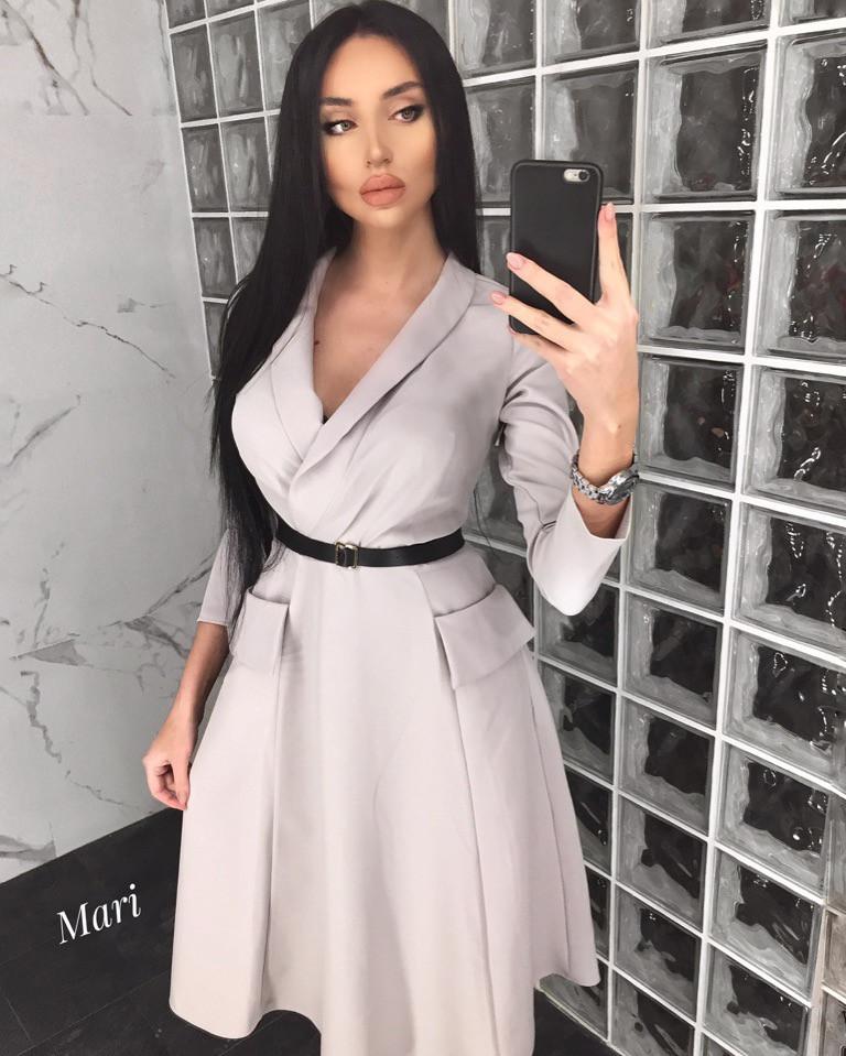 Платье с пышной длинной юбкой на запах 63ty2355