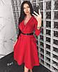 Платье с пышной длинной юбкой на запах 63ty2355, фото 3
