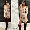 Платье на запах с открытыми плечами и бретелями 63ty2359, фото 3