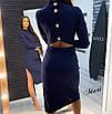 Платье миди с разрезом на спине и длинным рукавом 63ty2360, фото 3