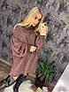 Вязаное свободное платье с широкими рукавами и высокой горловиной 73ty2362, фото 4