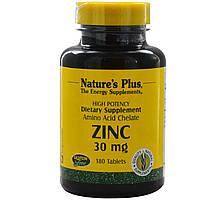 Мега Цинк (Mega Zinc), Nature's Plus, 30 мг, 180 таблеток