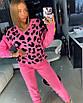 Вязаный женский костюм с принтом леопардовым 18st944, фото 2