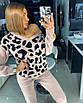 Вязаный женский костюм с принтом леопардовым 18st944, фото 3