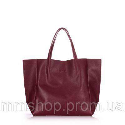 Сумка женская кожаная POOLPARTY Soho Leather Soho Bag вишневая, фото 1