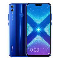Смартфон Huawei Honor 8х синий (экран 6,5 дюймов, памяти 4/64,  батарея емкостью 3750 мАч)