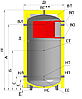Бак аккумулятор 800 л без изоляции. ЕА-10-800-X/Y
