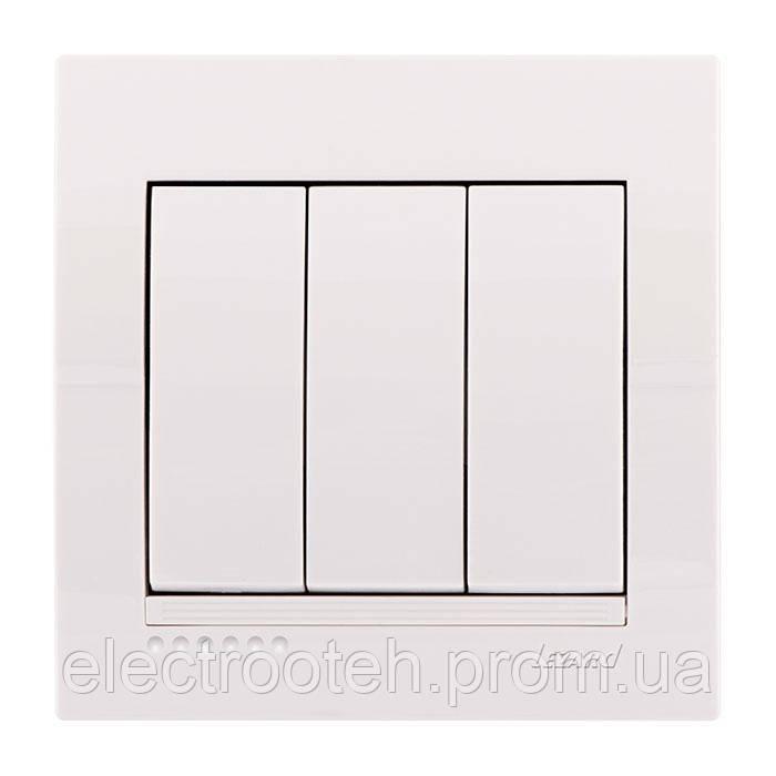 Вимикач білий 3кл