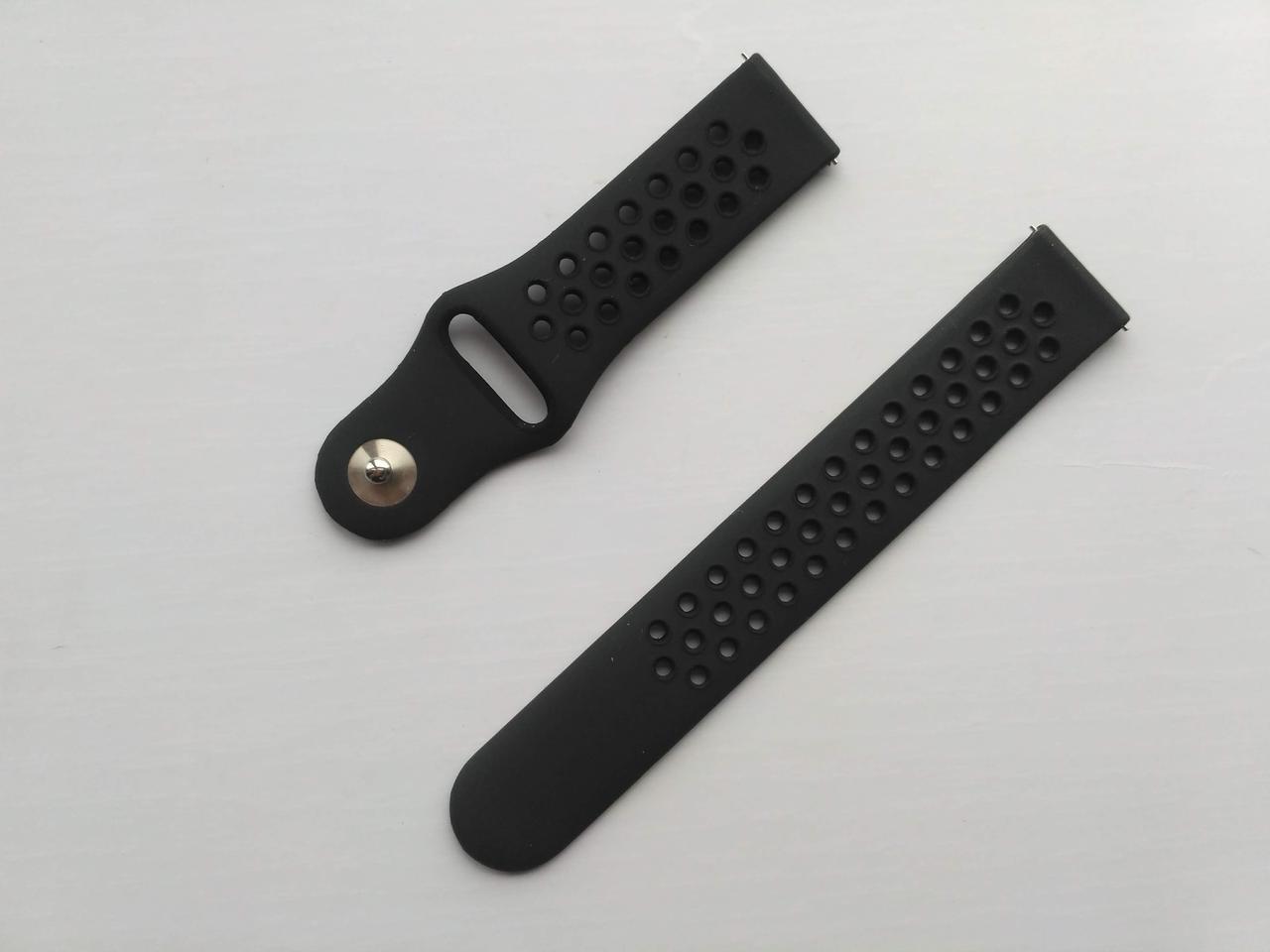 Ремешок Sport Nike Style для Xiaomi AMAZFIT Bip / 20 мм Black (Черный)
