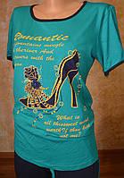 Женский летний спорт. костюм (футболка, капри)