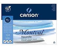 Склейка для акварели Canson Montval FIN А3+ (36х48см) 300 г/м2 12 листов (200807321)