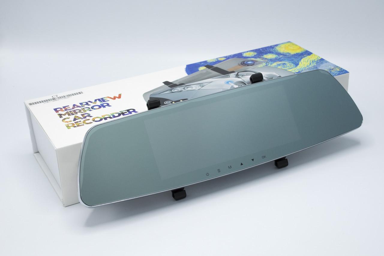 Зеркало регистратор + камера заднего вида REARVIEW MIRROR C7 Видеорегистратор-зеркало регистратор в авто