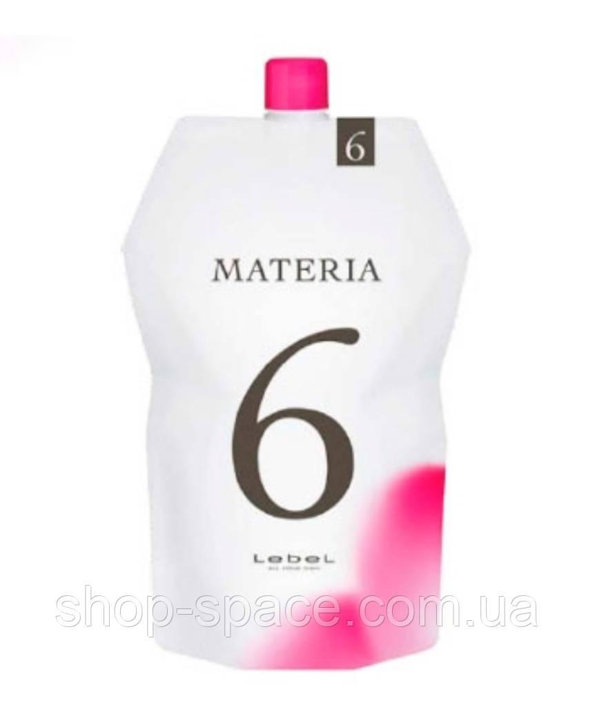 Lebel Oxy Materia Оксидант для смешивания с краской 6%, 1000 мл
