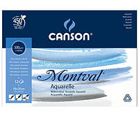 Склейка для акварели Canson Montval FIN А5+ (18х25см) 300 г/м2 12 листов (200807317)