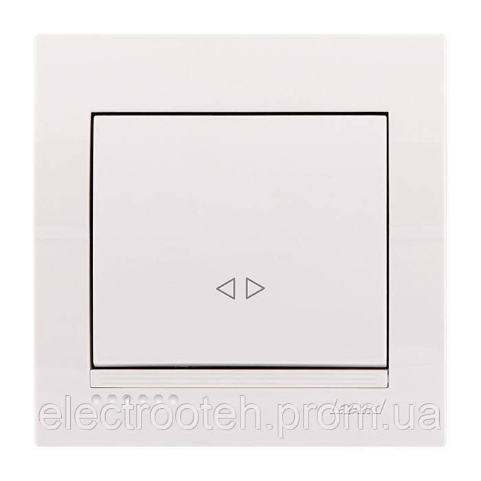 Вимикач білий проміжний 1кл