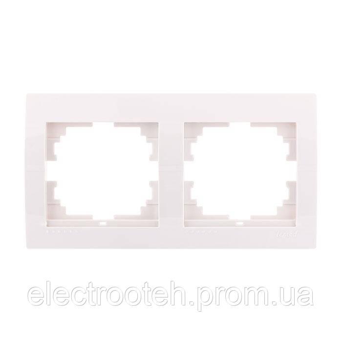 Рамка 2-а горизонтальна біла