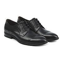 Мужские чёрные кожаные туфли (броги 8c85e8232b571