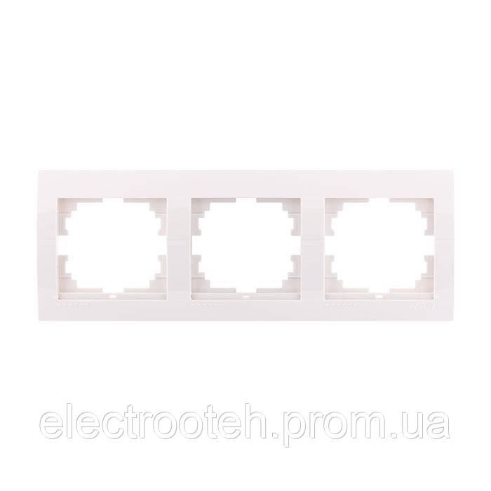 Рамка 3-а горизонтальна біла