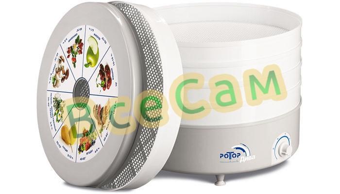 Сушилка для овощей и фруктов «Ротор-Дива»