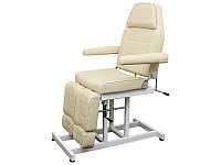 Педикюрная Кушетка косметологическая стационарная универсальное кресло для салонов красоты,  BS-246Т Кремовый
