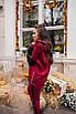 Женский теплый костюм Бордовый, фото 2