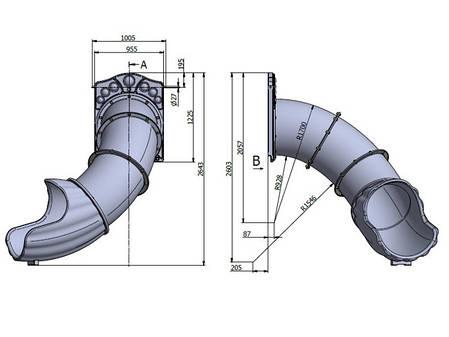 Горка Винтовая Тунель на высоту 1 метр, фото 2