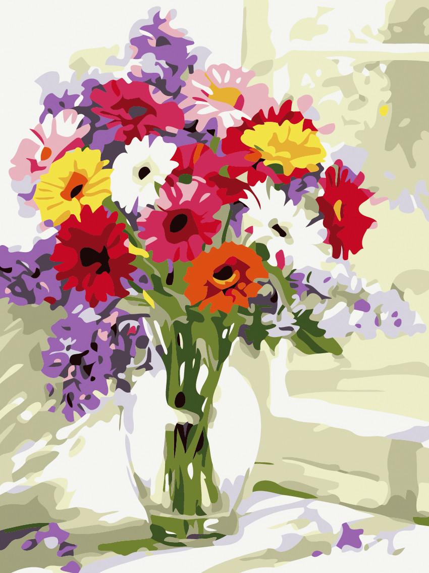 Художественный творческий набор, картина по номерам Утренние цветы, 30x40 см, «Art Story» (AS0483)