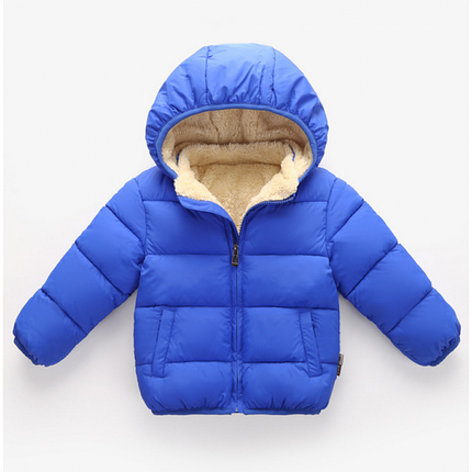 Куртка дитяча на хлопчика синя весна осінь на хутрі 4 роки, фото 2