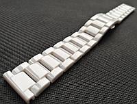 Браслет для часов, керамический. Белый. 20 мм, фото 1