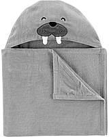 """Детское полотенце с капюшоном """"Морж"""""""