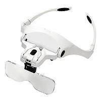Увеличительные очки лупа налобные с LED подсветкой  9892 В2