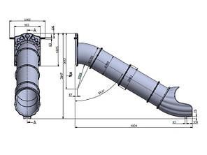 Горка спуск Тунель на высоту 2 м, фото 2