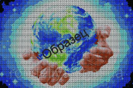 Схема для вишивки бісером «Світ»