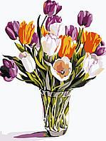 Художественный творческий набор, картина по номерам Разноцветные тюльпаны, 30x40 см, «Art Story» (AS0488)