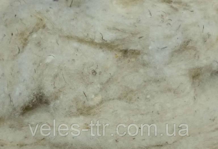 Сливер светлый 50 гр (кардачес) овечья шерсть для валяния