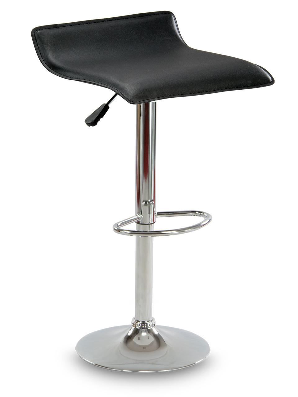 Барний стілець Hoker VIA з регулюванням висоти і підніжкою Чорний