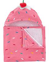 Детское полотенце с капюшоном для девочки