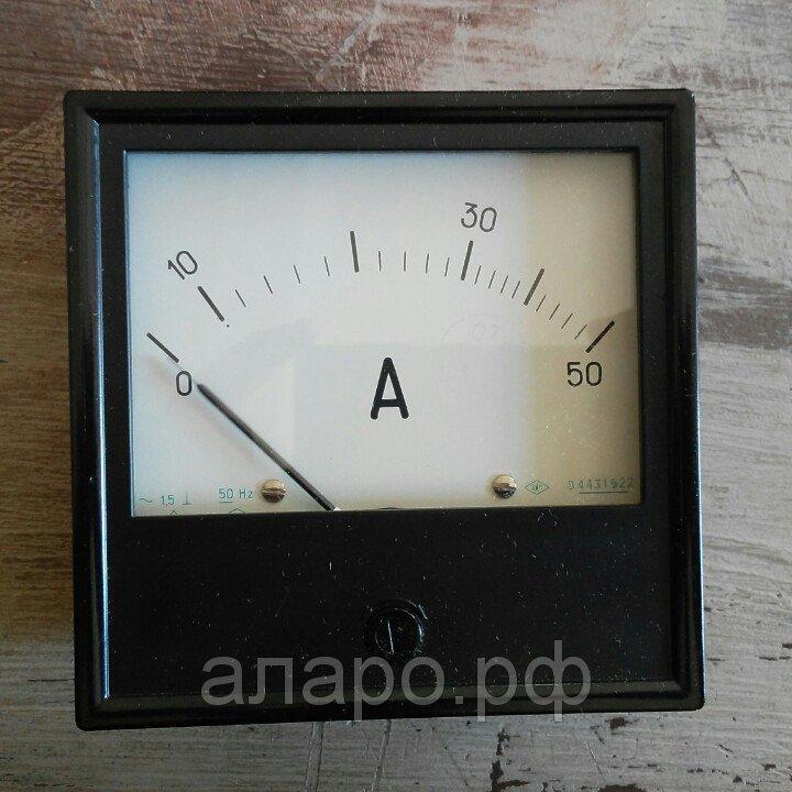 Амперметр Э365-1 0-50А