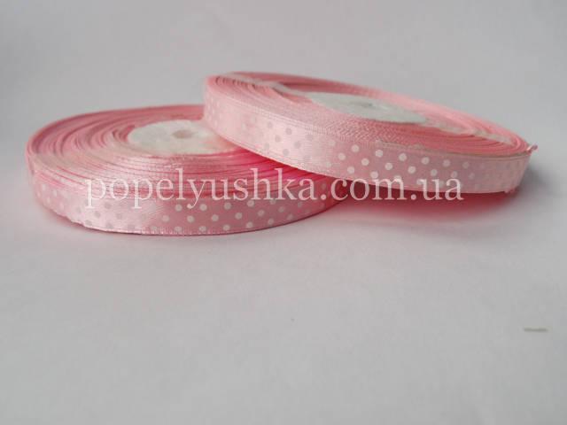 Стрічка горох 1 см світло-рожева