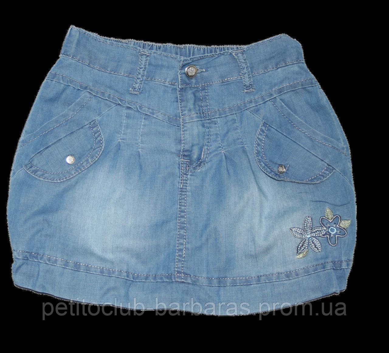 Детская летняя джинсовая юбка (QuadriFoglio, Польша)