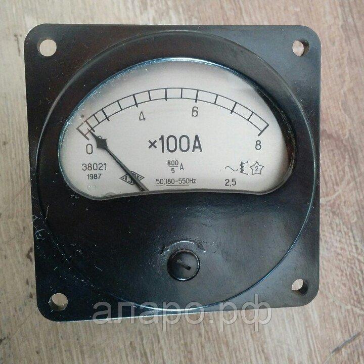Амперметр Э8021 0-800А