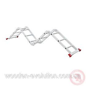 Драбина алюмінієва багатофункційна трансформер 4x3 ступ., 3,50 м INTERTOOL LT-0030
